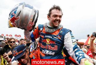 Австриец Маттиас Валькнер на КТМ стал победителем ралли Дакар-2018