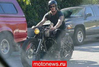Дэвид Бэкхем упал с мотоцикла в Голливуде