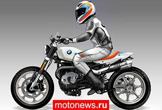 Обердан Бецци представил концепт мотоцикла BMW для флэт-трека