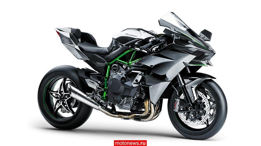 Турбированный мотоцикл Kawasaki Ninja H2 скоро представят в России