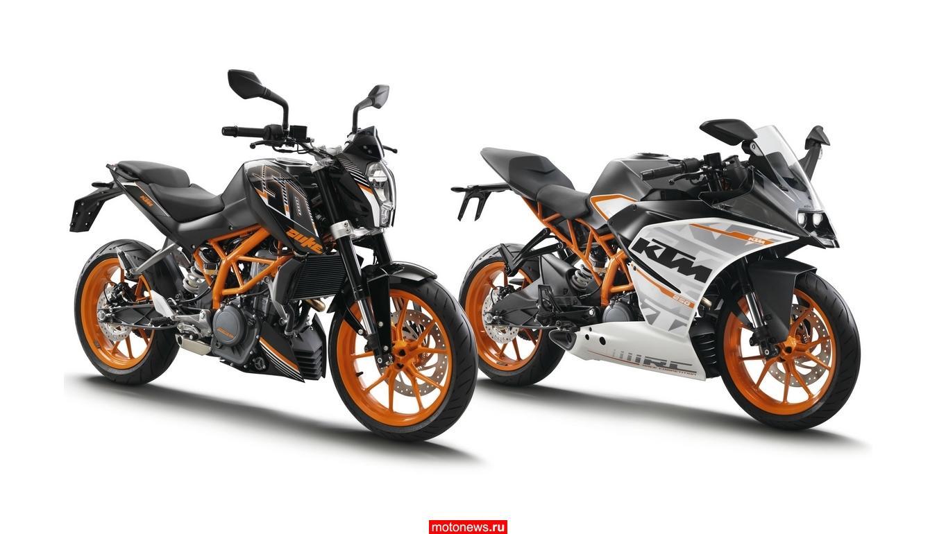 КТМ представил два 250-кубовых мотоцикла в Токио