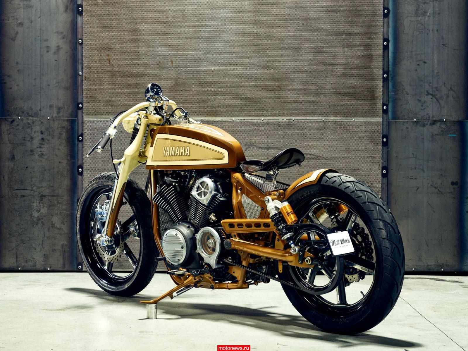 Кастом на базе Yamaha XV950 от Matt Black