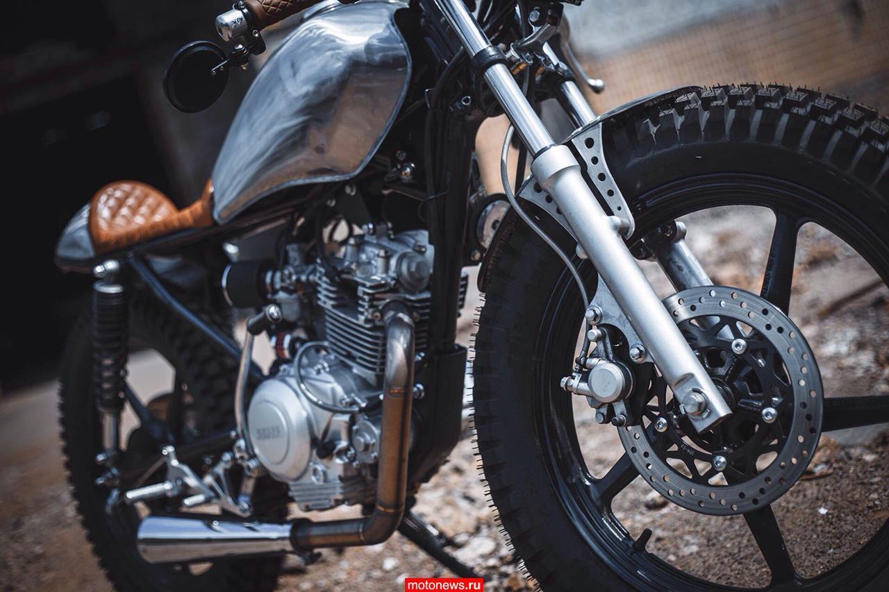 Украинские кастомайзеры построили cafe-racer на базе Yamaha YBR 125