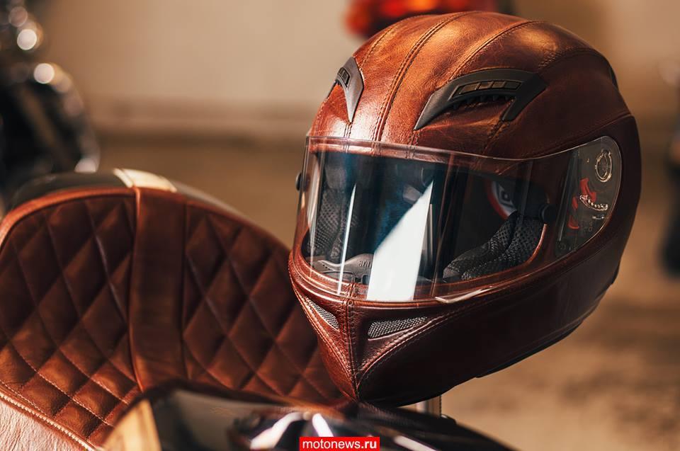 Кожаный шлем на базе AGV