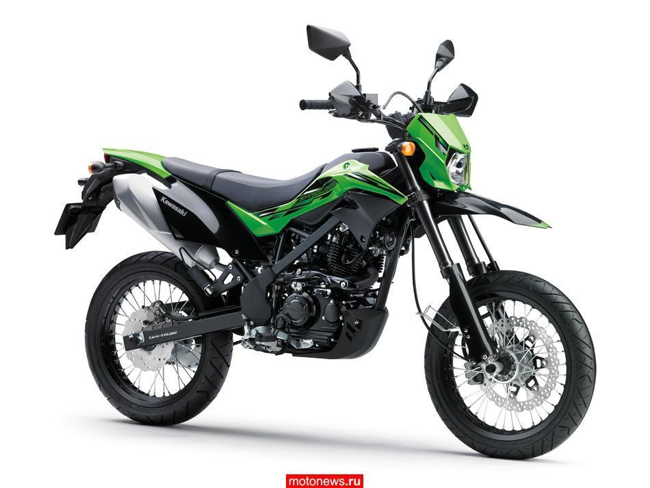 Kawasaki представляет мотоцикл D-Tracker 2016 года