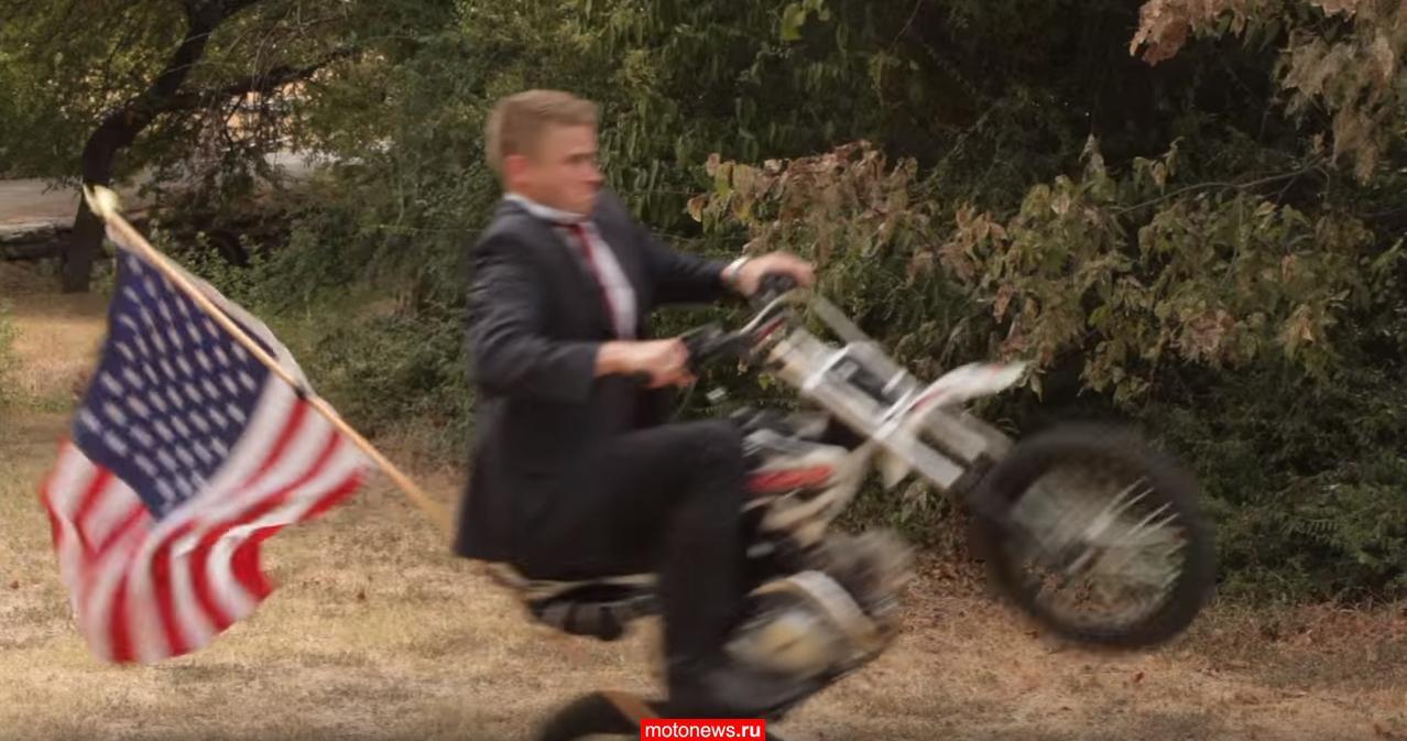 Техасский юрист выпустил рекламу с мотоциклом
