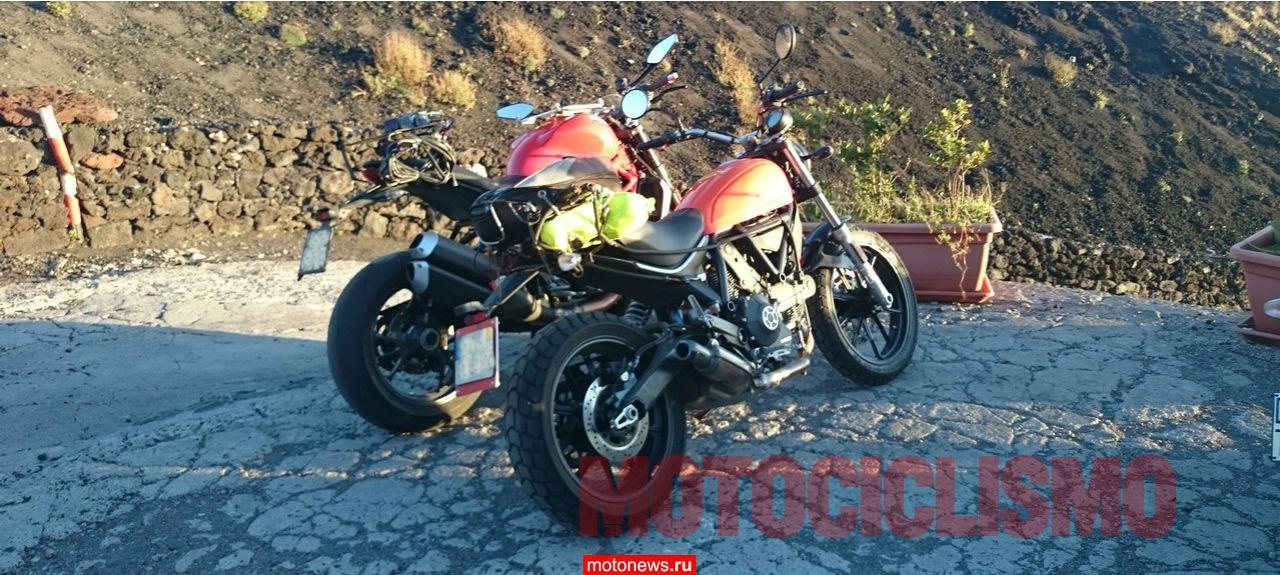 В сети появилось шпионское фото Ducati Scrambler 400