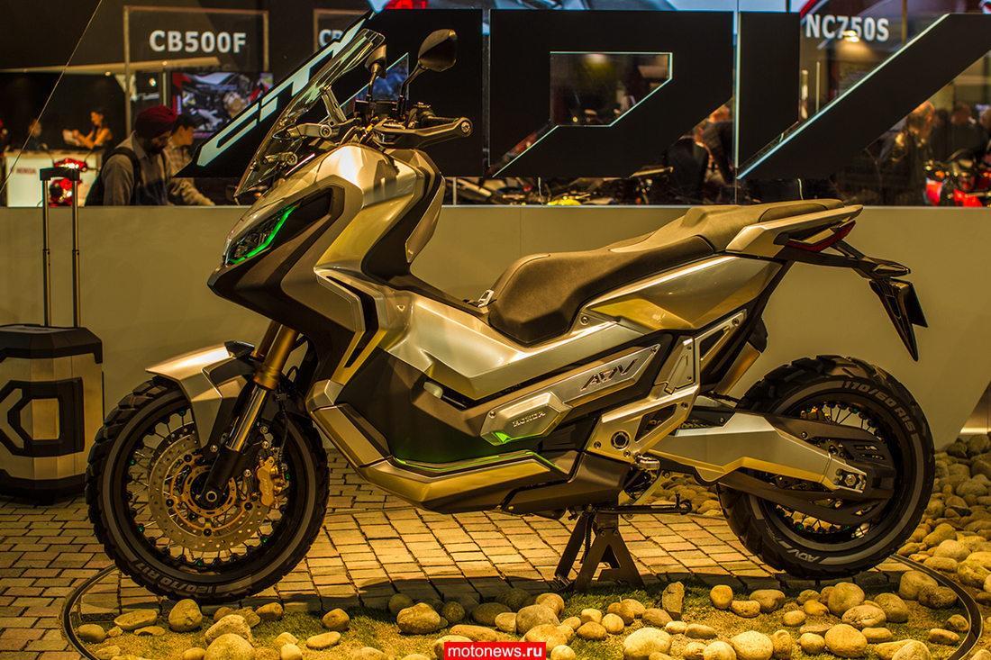 Прототип скутера Honda City Adventure засекли в камуфляже