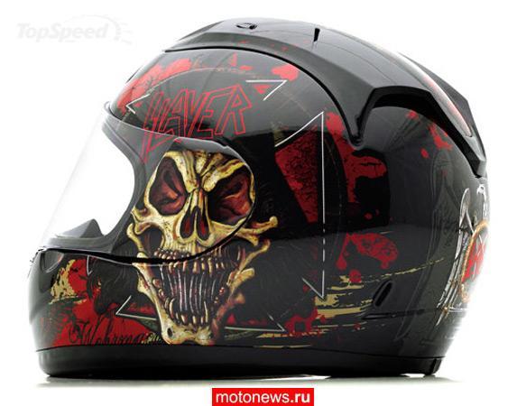 ...группы Slayer в сотрудничестве с компанией O'Neal сделали собственную серию мотошлемов.