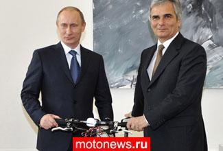 В.Путин и велосипед